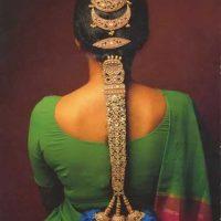 Peinado para novia estilo india