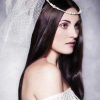 peinado liso para novia