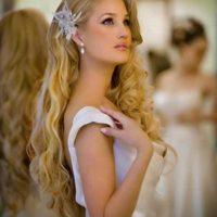 corte de pelo y peinado con ondas para novia