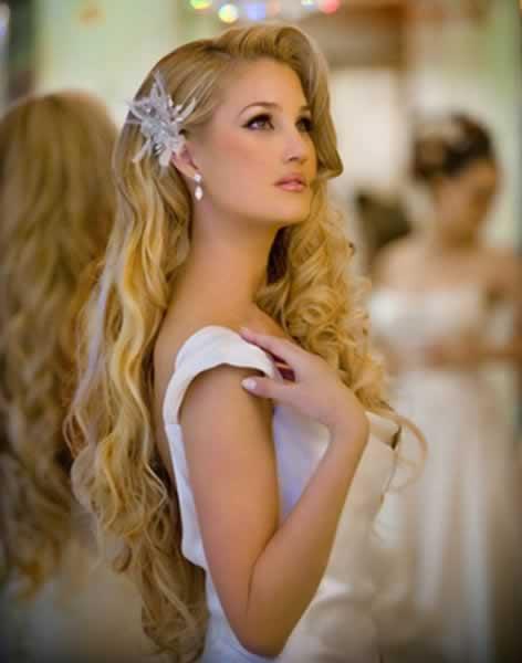 corte de pelo y peinado con ondas para novia with peinados para novias elegantes