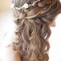 Peinado corona para novia
