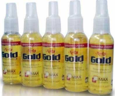 frascos de queratina liquida gold