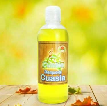 frasco 500 ml de shampoo de cuasia