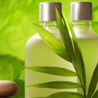 frasco de shampoo natural para el cabello
