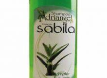 frasco de shampoo de sabila 250 ml