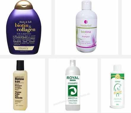 opciones para comprar shampoo de biotina