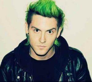 pelo verde hombre