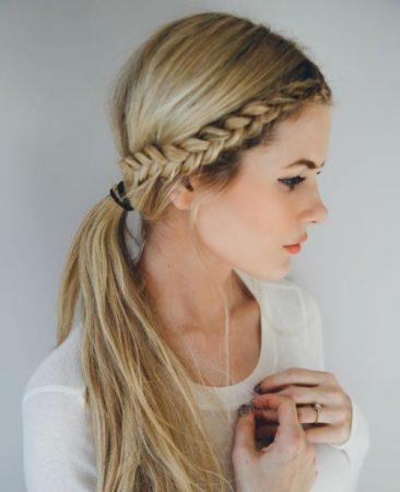 Las 8 trenzas de lado m s usadas 2018 blog de peluquer a - Como hacer peinado para boda ...