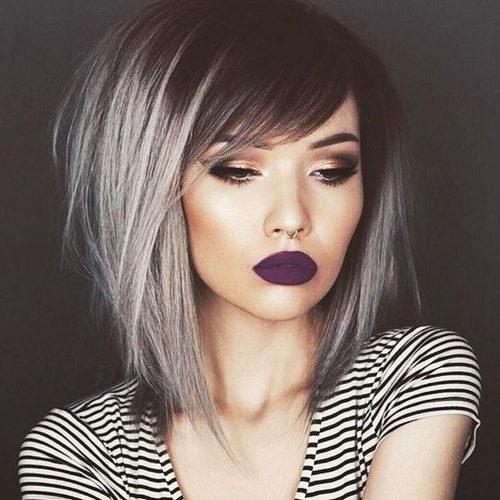 Fotos de cortes de pelo gris