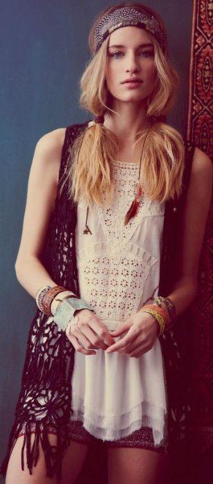 peinado-hippie coletas sueltas
