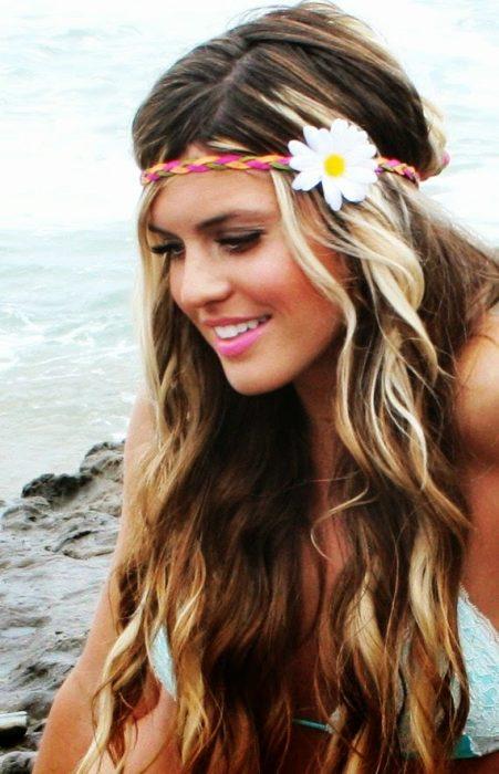 Peinados recogidos hippies