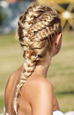 peinados-hippies trenza cocida