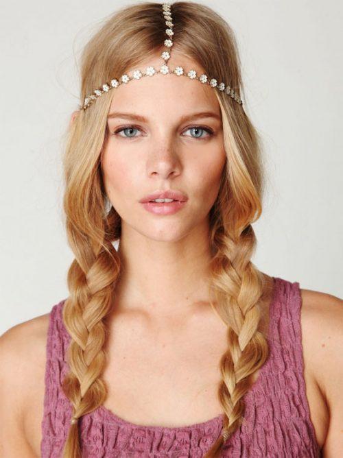 peinados-hippies TRENZAS SUELTAS
