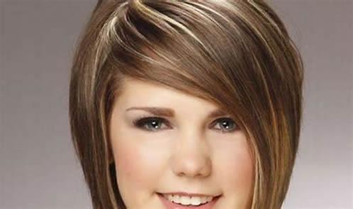 peinados cortes de pelo mujeres cara redonda 086
