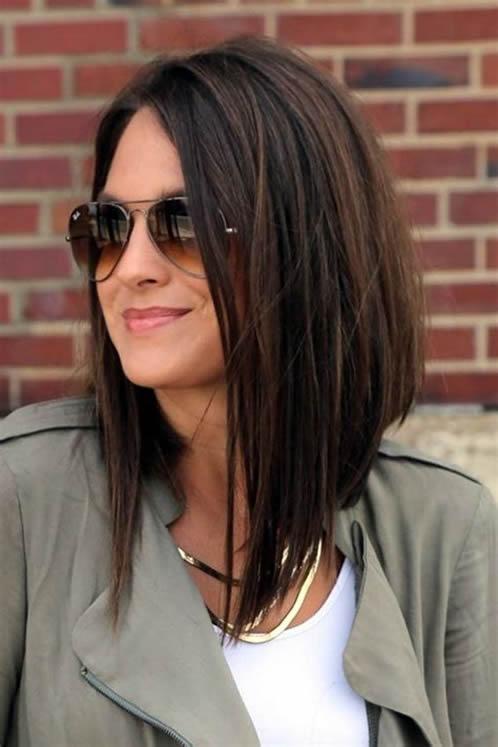 Corte de cabello moderno de mujer