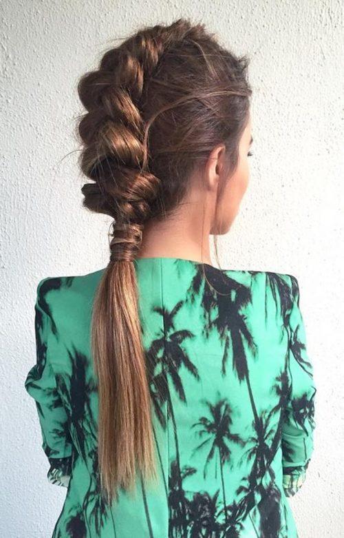 peinado para mujer con trenza