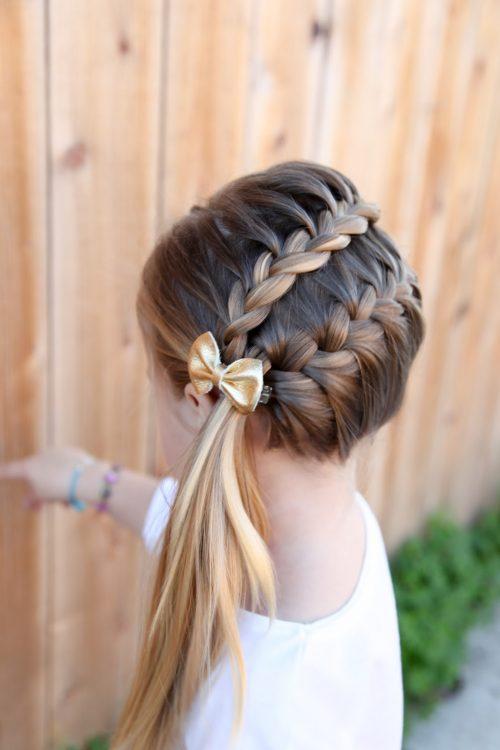 peinado con trenza para niñas