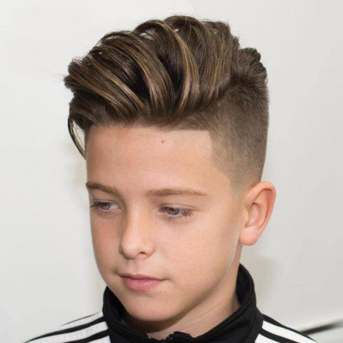 peinado mullet para niños