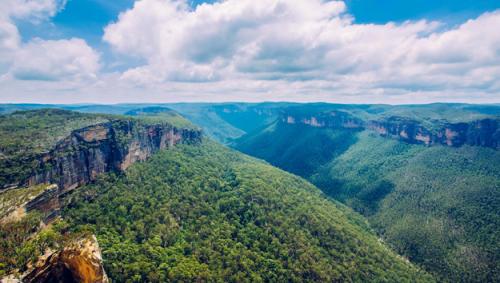 fotografia de montes australianos