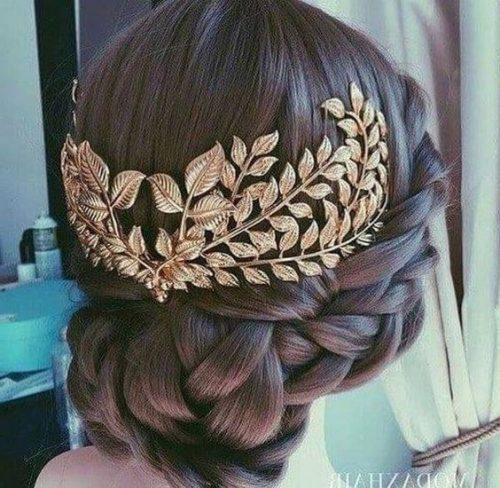 trenzas y peinado griego