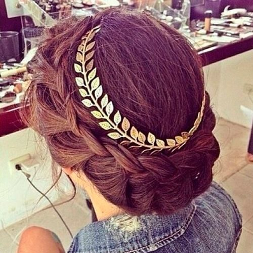 peinado recogido griego