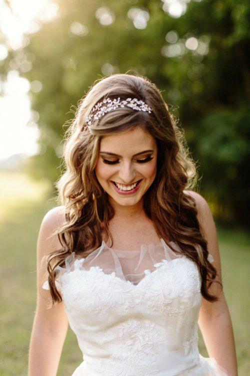 peinado pelo suelto para boda