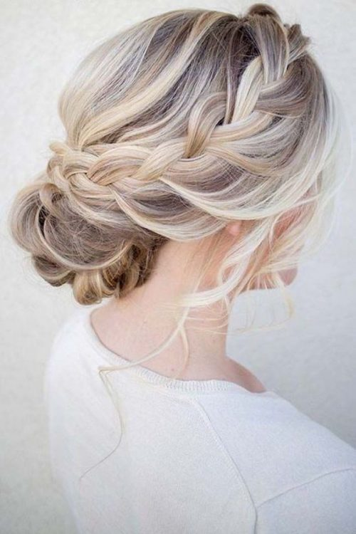 peinado para boda de dia