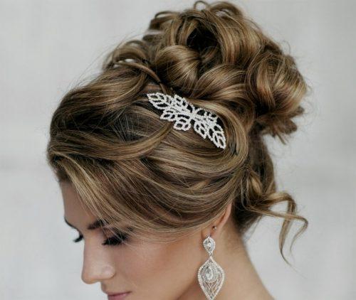 peinado recogido alto para boda