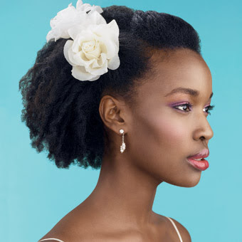 peinado chica afrodesendiente boda