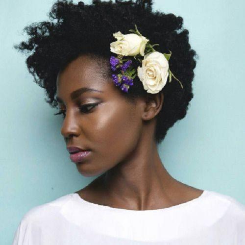 peinado mujer de color para boda
