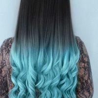 Mechas azul aperlado