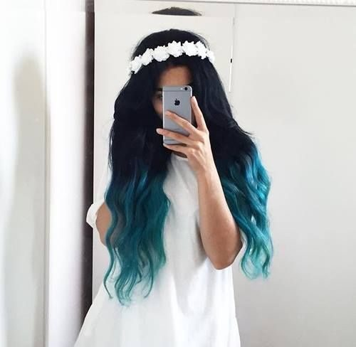 Mechas azules turquesas