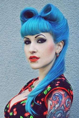 Peinados PIN UP punk rock