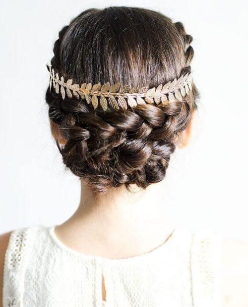 Peinados con tocados romano
