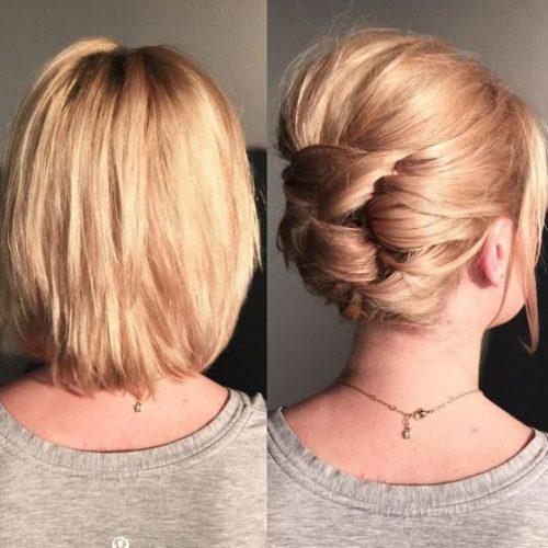 Peinados románticos corto y liso