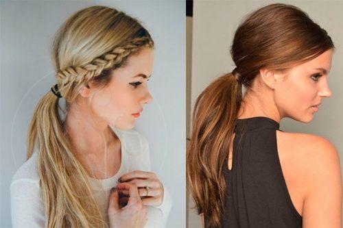 Peinados románticos cabello liso
