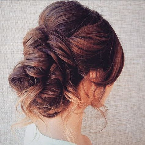 Peinados románticos moño elegante