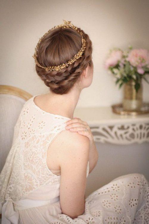 peinados romanos con coronilla