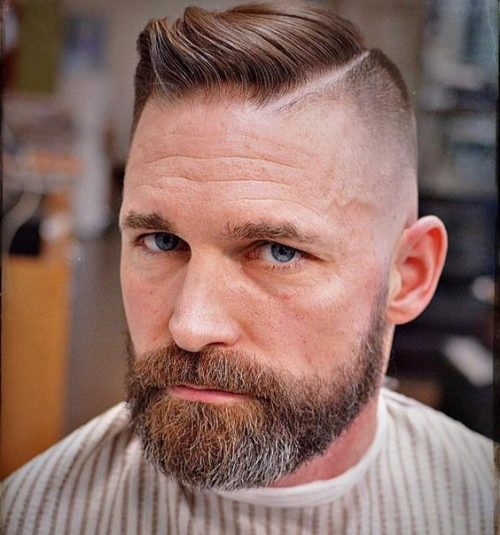 flequillo con barba