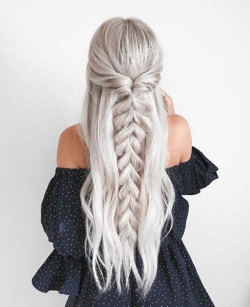 peinado para madrinas pelo blanco