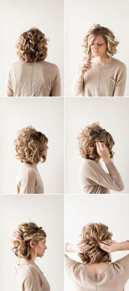 Peinados pelo suelto corto rizado