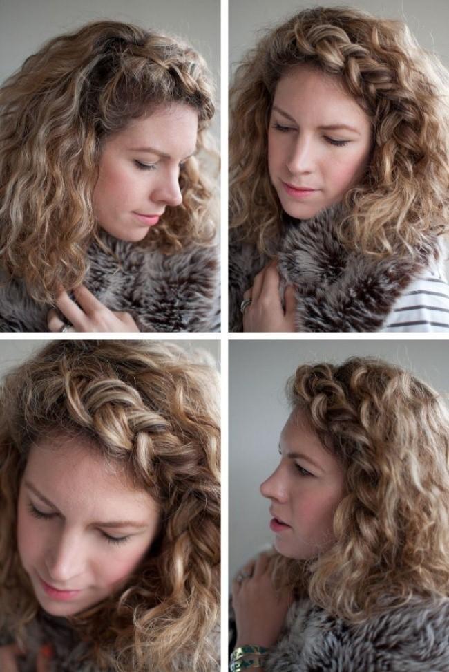 Peinados pelo corto rizado 2