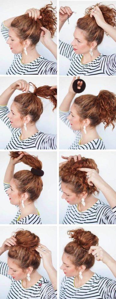 Peinados pelo corto rizado 6
