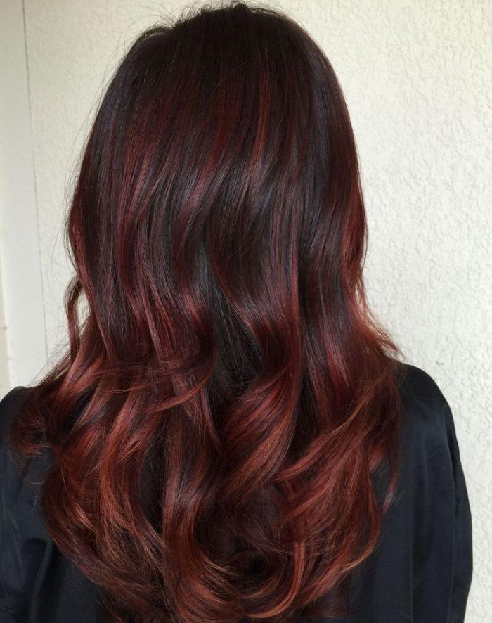 Colores de cabello para morenas balayage
