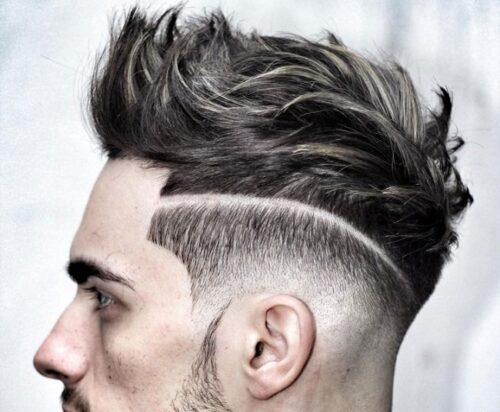 corte de pelo con linea punk