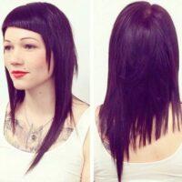 cortes de pelo asimétricos largo recto