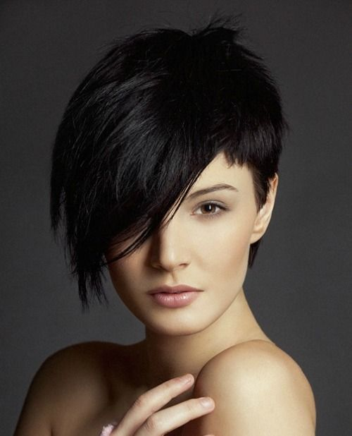 cortes de pelo asimétricos pixie corto