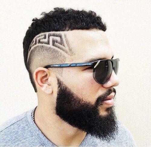cortes de pelo con dibujos diseños simetricos