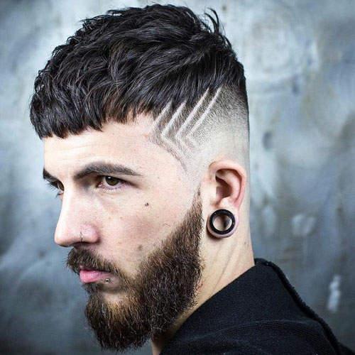 cortes de pelo con dibujos figuras geometricas
