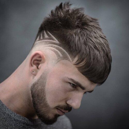cortes de pelo con dibujos patrones curvados